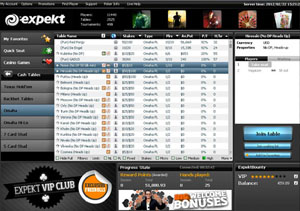 screenshot expekt poker lobby