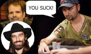pokerspelare och pratbubbla