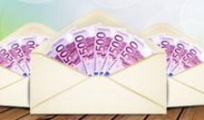kuvert med sedlar