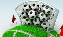 fotbollar i mål